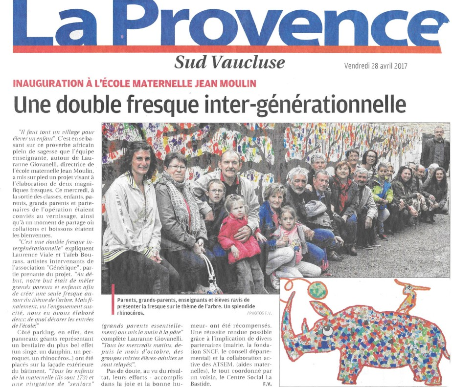 article la provence atelier du part'ages GENERIQUE R